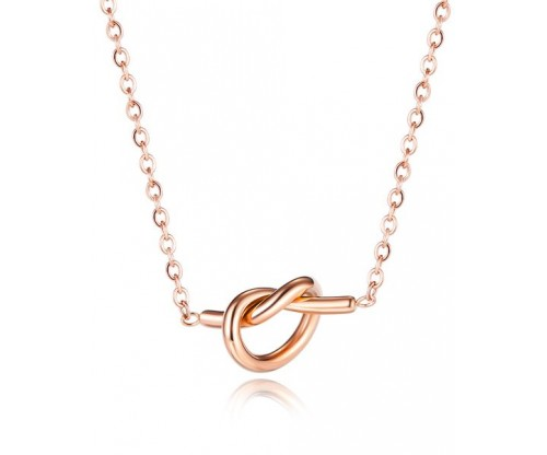 GIOELLE Trendy Necklace, Stainless Steel, Rose gold-tone plated