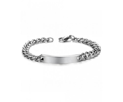 GIOELLE Trendy Bracelet, Stainless Steel, Silver-tone plated, Size S, L