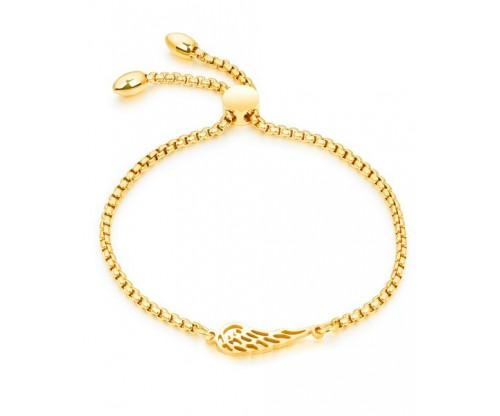 GIOELLE Trendy Bracelet, Stainless Steel, Gold-tone plated