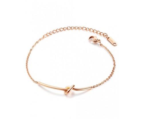 GIOELLE Trendy Bracelet, Stainless Steel, Rose gold-tone plated