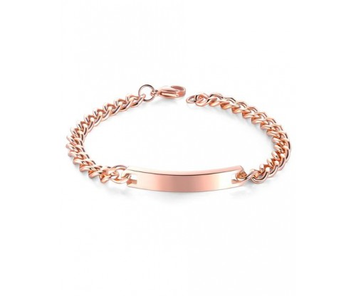 GIOELLE Trendy Bracelet, Stainless Steel, Rose gold-tone plated, Size S, L