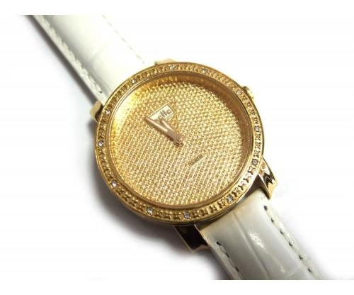 OXETTE Ρολόι με Δερμάτινο λευκό λουράκι