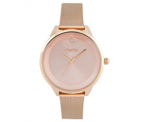 OXETTE Solaris Rose Gold mesh band Steel Bracelet