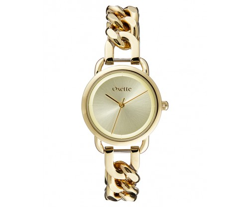 OXETTE Link Gold Stainless Steel Bracelet