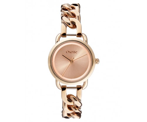 OXETTE Link Rose Gold Stainless Steel Bracelet
