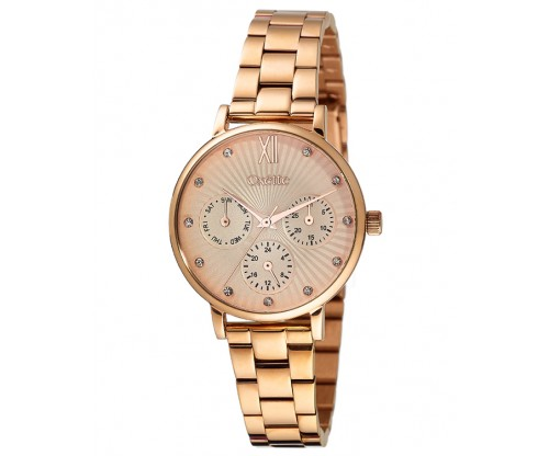 OXETTE Sunray Rose Gold Stainless Steel Bracelet