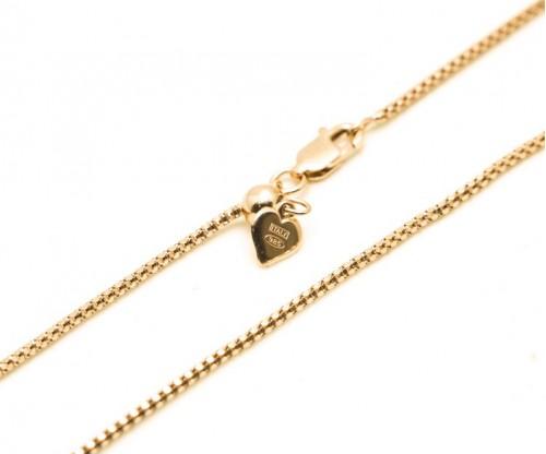 GIOELLE Αλυσίδα από Ροζ Επιχρυσωμένο Ασήμι 58εκ.  με Αυξωμείωση