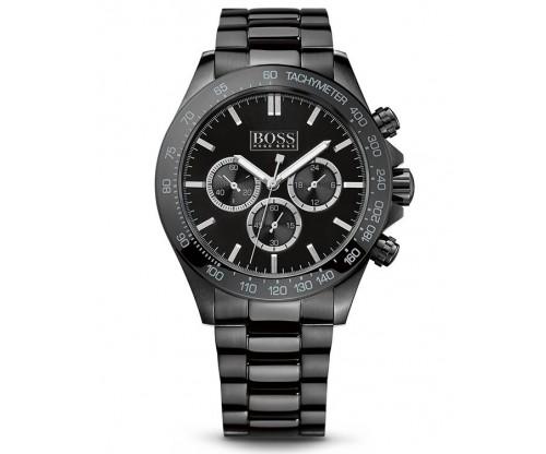 HUGO BOSS Ikon Chronograph Black Stainless Steel Bracelet