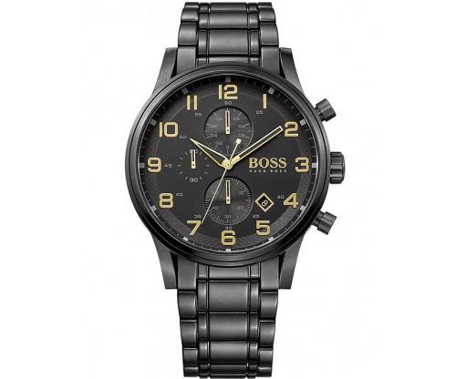 HUGO BOSS Aeroliner Chronograph Black Stainless Steel Bracelet