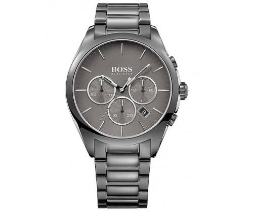 HUGO BOSS Onyx Chronograph Grey Stainless Steel Bracelet