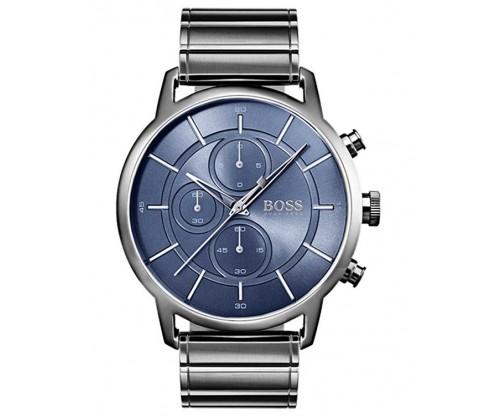HUGO BOSS Architectural Chronograph Grey Stainless Steel Bracelet