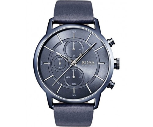 HUGO BOSS Architectural Chronograph Blue Leather Strap