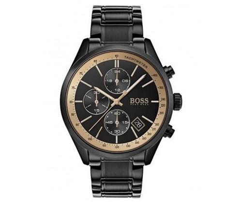 HUGO BOSS Grand Prix Chronograph Black Stainless Steel Bracelet