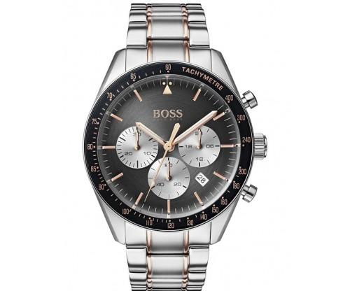 HUGO BOSS Trophy Chronograph Two Tone Stainless Steel Bracelet