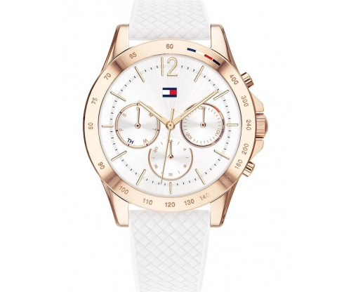 Tommy HILFIGER Haven  Multifunction white Rubber Strap