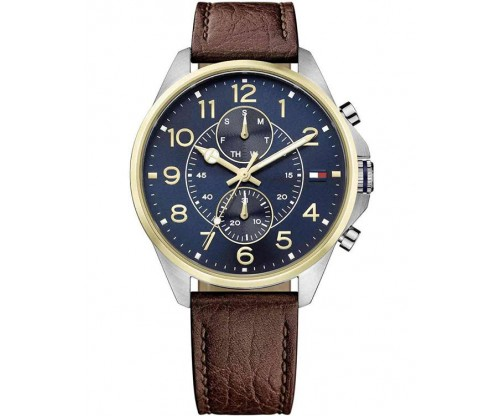 Tommy HILFIGER Dean Multifunction Brown Leather Strap