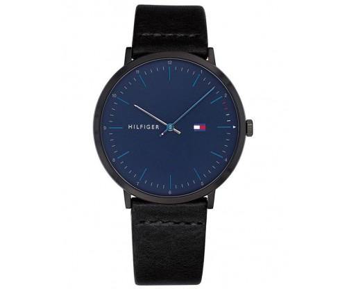 Tommy HILFIGER James Black Leather Strap