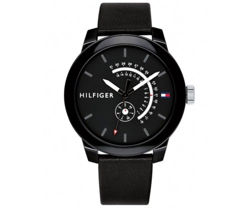 Tommy HILFIGER Denim Black Leather Strap