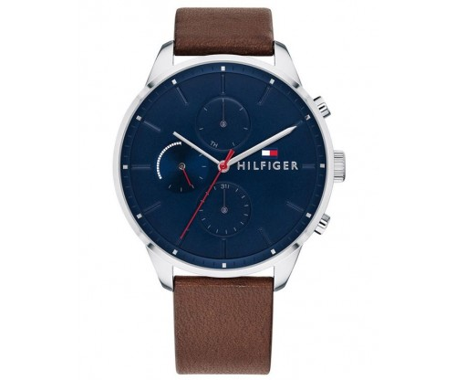 Tommy HILFIGER Chase Multifunction Brown Leather Strap