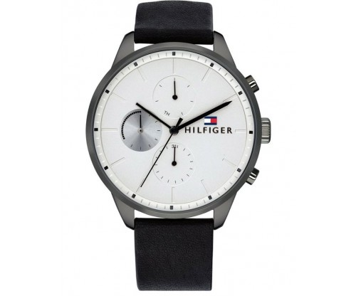 Tommy HILFIGER Chase Multifunction Black Leather Strap