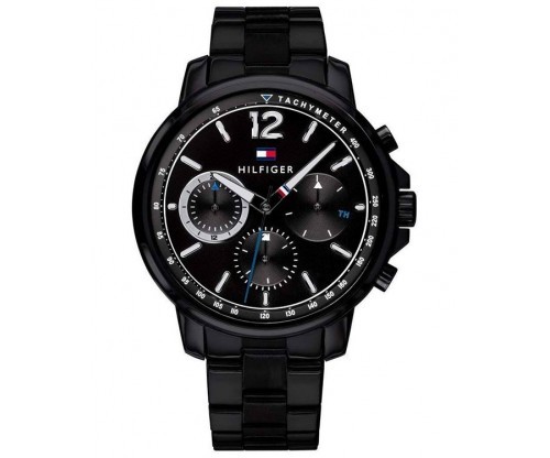 Tommy HILFIGER Landon Multifunction Black Stainless Steel Bracelet