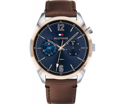 Tommy HILFIGER Deacon Multifunction Brown Leather Strap