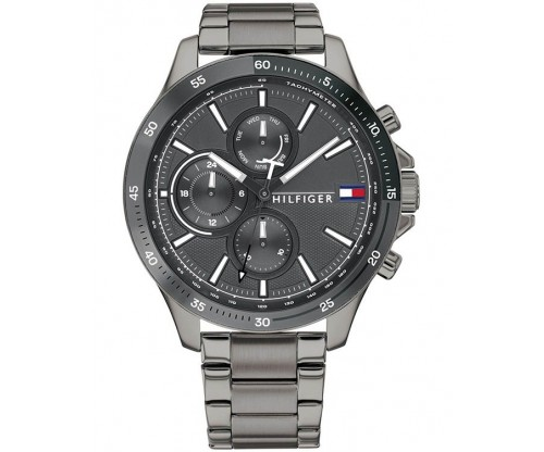Τοmmy HILFIGER Sport Multifunction Grey Stainless Steel Bracelet