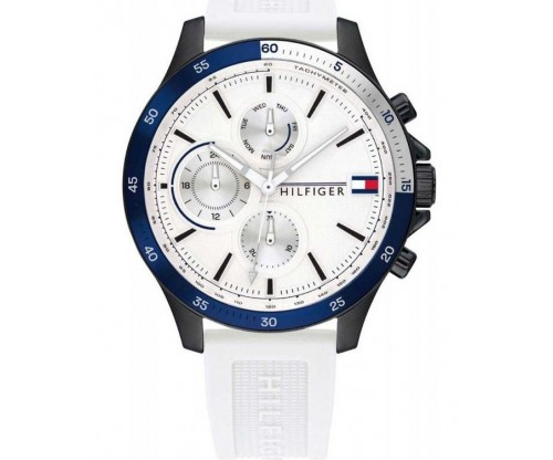 Tommy HILFIGER Bank Multifunction white Rubber Strap
