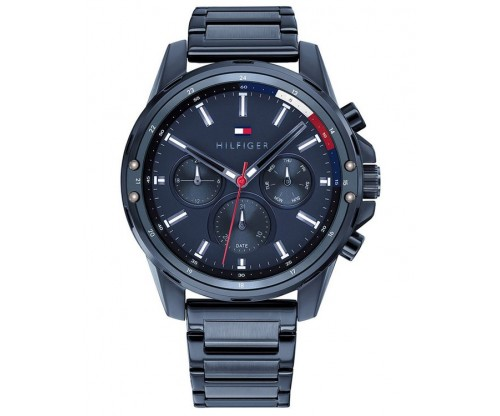 Tommy HILFIGER Mason Multifunction Blue Stainless Steel Bracelet