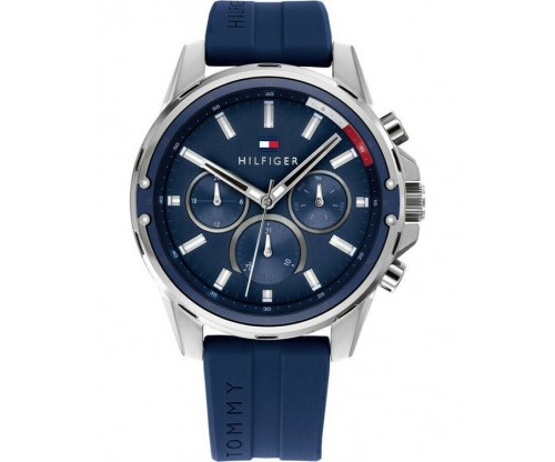 Tommy HILFIGER Mason Multifunction Blue Rubber Strap