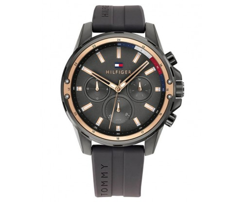 Tommy HILFIGER Mason Multifunction Black Rubber Strap