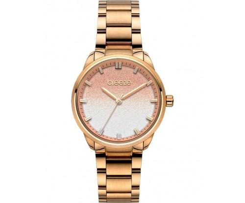 BREEZE Twist Shiner Rose Gold Stainless Steel Bracelet