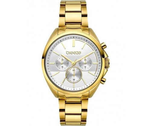 BREEZE GlowRaider Chronograph Gold Stainless Steel Bracelet