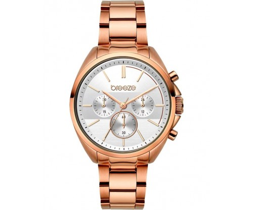 BREEZE GlowRaider Chronograph Rose Gold Stainless Steel Bracelet