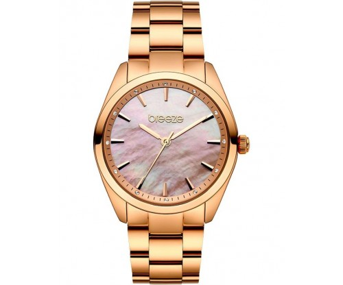 BREEZE Finesse Crystals Rose Gold Stainless Steel Bracelet