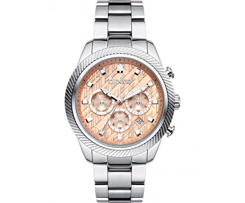 BREEZE Dreamscape Dual Time Silver Stainless Steel Bracelet