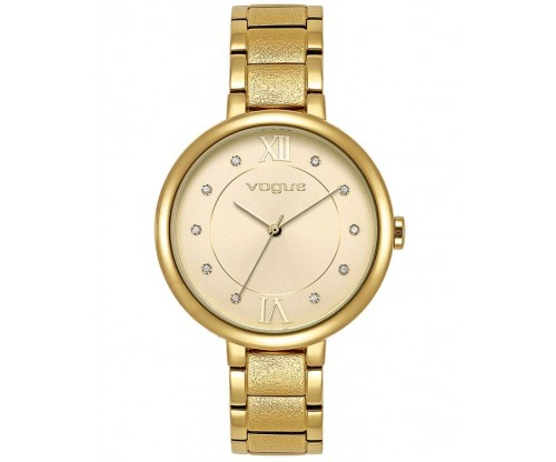 VOGUE Perfume Crystals Gold Stainless Steel Bracelet