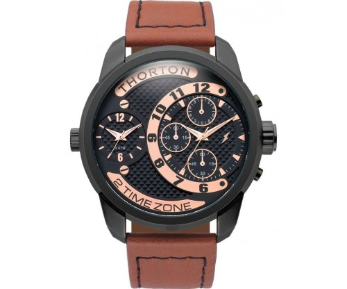 THORTON Vidar Chronograph Leather Strap