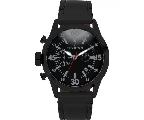 THORTON Arne Dual time Leather Strap