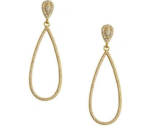 BREEZE Teardrop Earrings, Alloy, Gold-tone plated