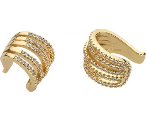 BREEZE Ear Cuff Earrings, Alloy, Gold-tone plated