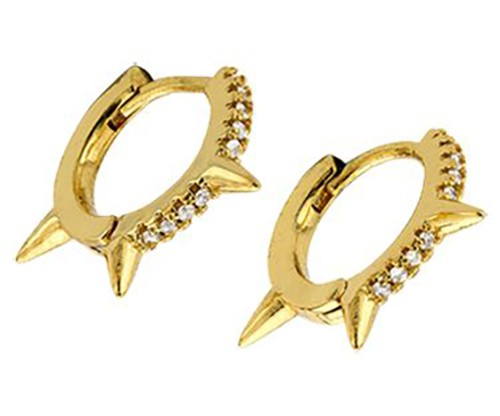 BREEZE Thorn Touch Earrings, Alloy, Gold-tone plated plated