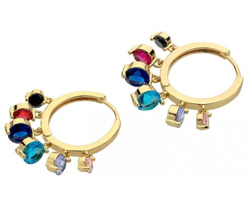 BREEZE Color Drops Earrings, Alloy, Gold-tone plated plated