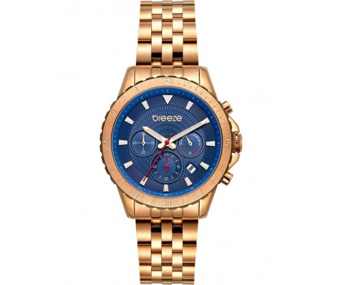 BREEZE Invernia Chronograph Rose Gold Stainless Steel Bracelet