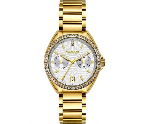 BREEZE Royalisse Crystals Gold Stainless Steel Bracelet