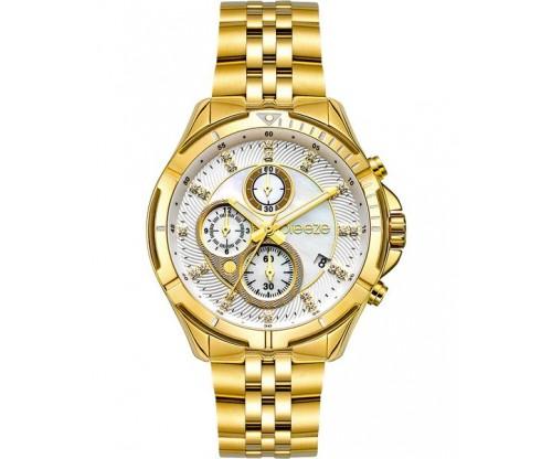 BREEZE Empressa Chronograph Gold Stainless Steel Bracelet