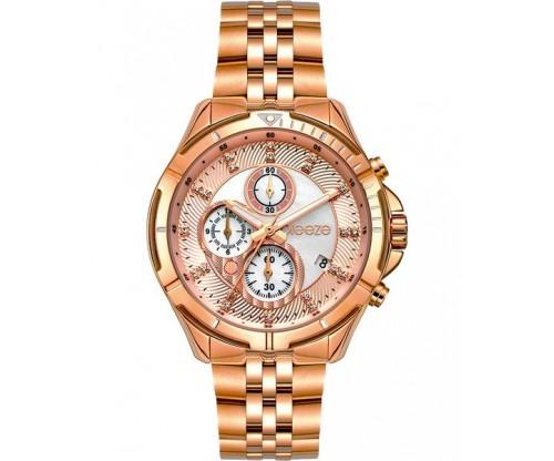 BREEZE Empressa Chronograph Rose Gold Stainless Steel Bracelet