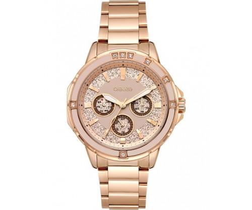 BREEZE Illumina Crystals Rose Gold Stainless Steel Bracelet