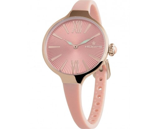HOOPS Cherie Midi Rose Gold Pink Rubber Strap