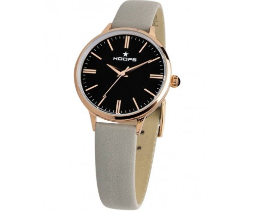 HOOPS Classic Gold Grey Leather Strap